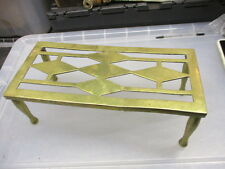 Antique Brass Trivet Cake Iron Planter Stand Vintage Old WT&S Ball & Claw 1912