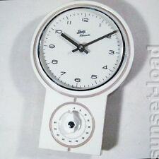 Schatz Küchen Uhr weiß - grau, alte vintage 60er 70er Jahre Küchenuhr