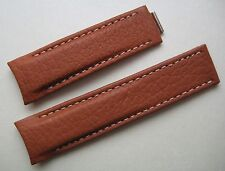 GENUINE TUDOR WATCH BAND STRAP BEAUTIFUL CAMEL BROWN SOFT LEATHER 20 x 18 mm NEW