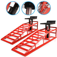 2 TON HEAVY DUTY HYDRAULIC CAR VAN VEHICLE AUTO GARAGE SERVICE JACK METAL RAMPS