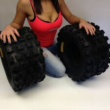 YAMAHA YFM 700R RAPTOR 2001-2011 PAIR (2) 20x10-9 AMBUSH SPORT ATV TIRES REAR