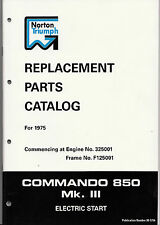 Norton Commando 850 Mk 3 OEM Factory Parts Manual, NOS