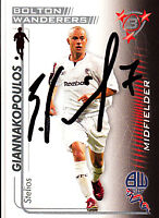 Bolton Wanderers F.C Giannakopoulos Hand 05/06 Premiership Shoot Out Signed Card
