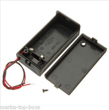 2Pcs 9V Battery Box Pack Holder With ON/OFF Power Switch Toggle