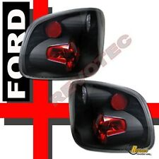 1997-2000 Ford F150 Flareside Pickup Black Tail Lights Lamps 1 Pair