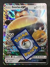 JUMBO OVERSIZED Snorlax Holo Rare SM05-Full Art- Black Star Promo -NM Pokemon-