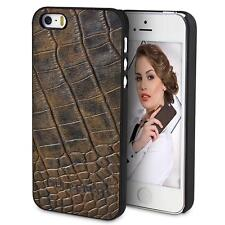 iPhone SE 5s LEDER Hülle Case Cover Schale Bouletta JACKET Kroko Antik Coffee