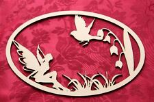 MDF Wooden Wooden keepsake box topper memory box fairy bird plaque Craft wall...