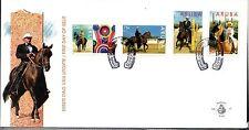 Dutch Antilles / Aruba - 1995 Horse show - Mi. 156-59 clean unaddressed FDC