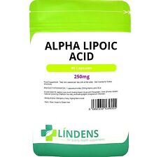 Alpha Lipoic Acid 250mg powerful antioxidant 90 capsules Lindens
