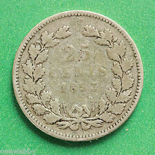 1893 - Netherlands - Silver 25 cents - SNo40346.