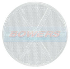 FRONT WHITE CLEAR ROUND STICK ON ADHESIVE REFLECTOR 85mm TRUCK TRAILER CARAVAN