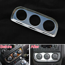 Chrome Air Condition Adjust Switch Cover Frame Trim for Jeep Patriot 2011-2015