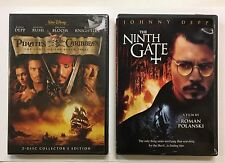 LOT 2~PIRATES OF THE CARIBBEAN /NEW~DVD~CURSE OF THE BLACK PEARL~NINTH GATE~DEPP