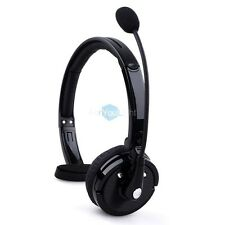 Bluetooth Wireless Headset Headphone Noise Cancellation Mic For Trucker Driver