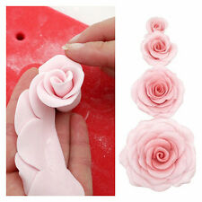 Silicone 3D Rose Flower Fondant Cake Chocolate Sugarcraft Decor Mould Mold Tool