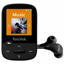 SanDisk Clip Sport 4GB Black MP3 Player  LCD Screen & MicroSDHC Card Slot