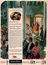 1944 AD WURLITZER STEPHEN FOSTER SMITH ART SOUTHERN BELLES BLACK AMERICANA