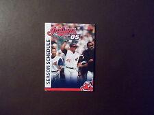 Cleveland Indians 2005 MLB pocket schedule - Various sponsors