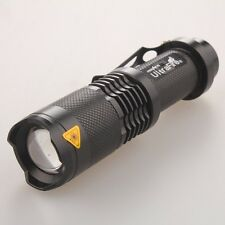 Mini 2500LM 5Mode CREE XML T6 LED Zoomable Focus Al Flashlight Torch Light
