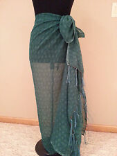 New woman green Bathing Suit Wrap Cover Skirt One Size modest swimming swim suit