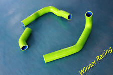Green Reinforced silicone radiator hose for Nissan silvia/180SX S13 CA18DET