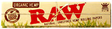 RAW Organic Natural Hemp Rolling Papers King Size Slim 32 Leaves per Pack