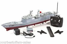 RC Battleship Stealth Boat Remote Control Boat Military Frigate Battleship Model