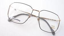 Luxus Brille Marken Gestell OWP hochwertig leicht Metall grau gold eckig Gr M