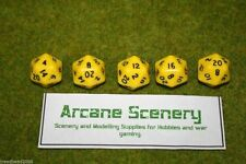 TWENTY SIDED DICE D20 YELLOW Opaque For Wargames & Games Workshop