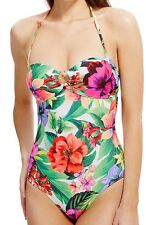 Marks and Spencer Secret Slimming Floral Bandeau Swimsuit 12
