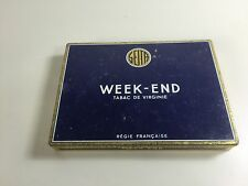BOITE CIGARE CIGARETTE METAL WEEK END TOBACCO  ANCIEN PACK TABAC VINTAGE VIDE
