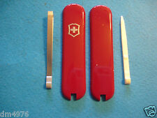 NEW SWISS ARMY VICTORINOX 58mm RED SCALES W/TOOTHPICK & TWEEZER FREE SHIP