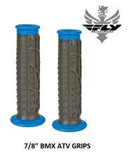 "Fly Racing Pilot II Grips Black Blue 7/8"" BMX ATV 20"" 24"" Race Cruiser S&M"