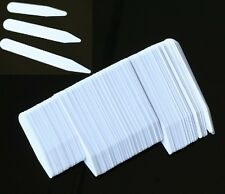 200 Plastic White Collar Stays Bones Stiffeners 3 Sizes