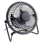 Portable Ultra Mute Mini USB Metal Cooler Cooling Desk Fan For PC Laptop Black