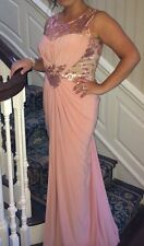 Peachy Pink Formal Homecoming Prom Wedding Evening Gown / Dress