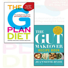 Gut Makeover Recipe Book and The G Plan Diet 2 Books Collection Set Pack NEW UK