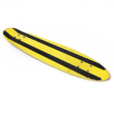 Vintage Yellow & Black Striped Pipeline Metal Penny Board Skateboard Deck 23.40""