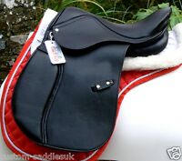 NEW IMPROVED D-Flex Synthetic GP saddle at a top value lower price- BLACK