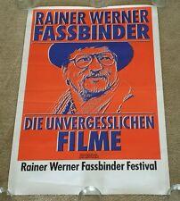 ULTRA RARE ORIG 1980s Rainer Werner Fassbinder Film Festival German Movie Poster