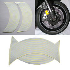 "18""  Wtite Stickers Reflective Car Motorcycle Rim Stripe Wheel Tape Decal"