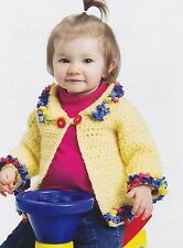 COZY Buttercup Baby Jacket/Crochet Pattern INSTRUCTIONS ONLY