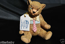 JAN HAGARA COLLECTABLES MINIATURE FIGURINE - TOBY'S BEAR