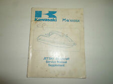 1987 Kawasaki 650SX Jet Ski Watercraft Service Manual Supplement FACTORY OEM x