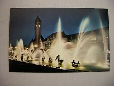 VINTAGE PHOTO POSTCARD OF THE MILES FOUNTAIN AT UNION STATION IN ST. LOUIS, MO