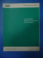IBM System 360 Cobol Programmed Instruction Course: Program Fundamentals 1966
