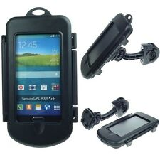 German made waterproof Samsung Galaxy S5 bike motorcycle handlebar mount holder