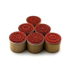 1pc Wood&Rubber Flower Paper Book Decorative Inking Stamping Stamp Stamper Seal