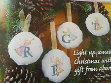 cross stitch chart HOLY CHRISTMAS CHOIR alphabet by Maria Diaz (xs crazy)